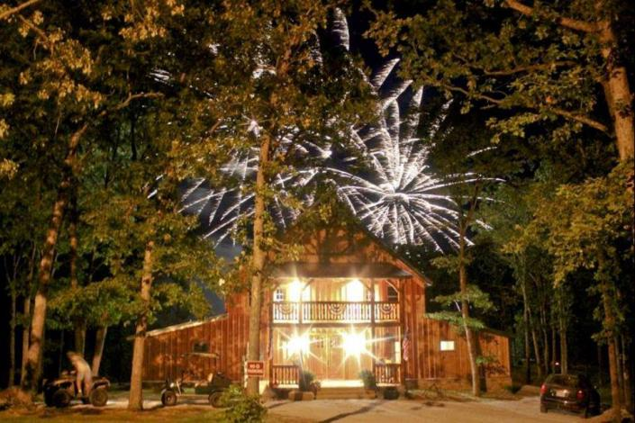 [Image: July 4th fireworks at venue]