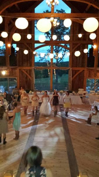 Barn Wedding line dancing
